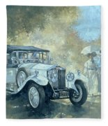 The White Tourer Fleece Blanket