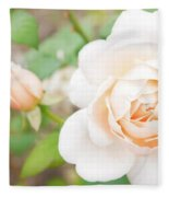 The White Washed Rose Fleece Blanket
