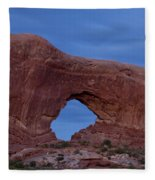 The Window At Arches N.p. After Dark Fleece Blanket