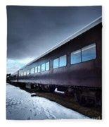 The Windows Of The Train Fleece Blanket