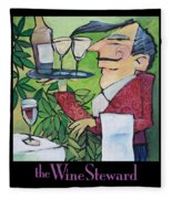The Wine Steward - Poster Fleece Blanket