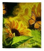 The Wings Of Transformation Fleece Blanket