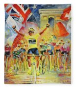 The Winner Of The Tour De France Fleece Blanket