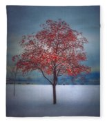The Winter Berries Fleece Blanket