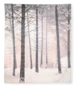 The Winter Forest Fleece Blanket