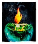 The Winter Of Fire And Ice Fleece Blanket