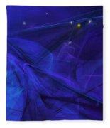 The Wizard Mid-incantation Fleece Blanket