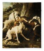 The Wolf Hunt Fleece Blanket
