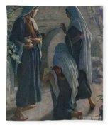 The Women At The Sepulchre Fleece Blanket