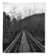 The Wooden Bridge Fleece Blanket
