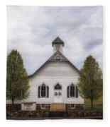 The Woodrow Union Church In Paw Paw West Virginia Fleece Blanket