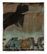 The Word Crow Fleece Blanket
