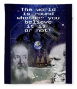The World Is Round Fleece Blanket