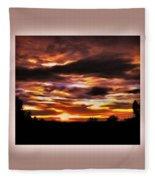 The Wow In A Sunset Fleece Blanket