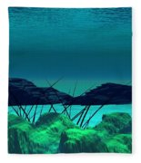 The Wreck Diving The Reef Series Fleece Blanket