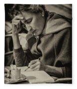 The Writer Candid Shot Venice_dsc1374_02282017 Fleece Blanket