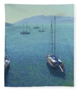 The Yachts Fleece Blanket