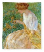 The Yellow Flower 1908 Fleece Blanket