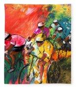 The Yellow River Of The Tour De France Fleece Blanket