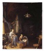 The Young Mother 1658 Fleece Blanket