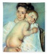 The Young Mother Fleece Blanket