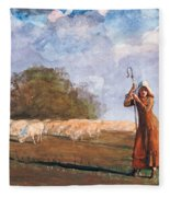 The Young Shepherdess Fleece Blanket