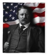 Theodore Roosevelt 26th President Of The United States Fleece Blanket