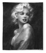 Theo's Marilyn Ww Bw Fleece Blanket