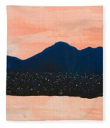There Are No Mountains In Michigan Fleece Blanket
