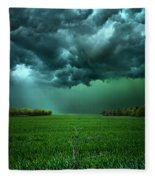 There Came A Wind Fleece Blanket
