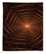 There Is Light At The End Of The Tunnel Fleece Blanket