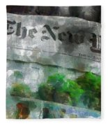 There Is No News Fit To Print Fleece Blanket