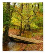 There Is Peace - Allaire State Park Fleece Blanket