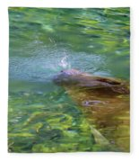 There She Blows Manatee Fleece Blanket