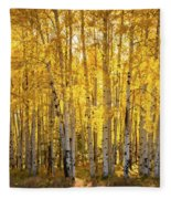 There's Gold In Them Woods  Fleece Blanket
