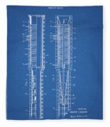 Thermojet Engine Patent Fleece Blanket