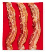 Thick Cut Bacon Served Up Fleece Blanket