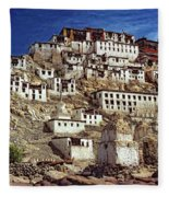 Thiksey Monastery Fleece Blanket