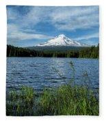 Thillium Lake And Mt Hood Fleece Blanket