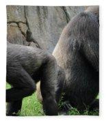 Thinking Gorilla Fleece Blanket
