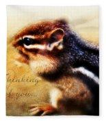 Thinking Of You Fleece Blanket