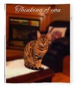 Thinking Of You - Bengal Cat Fleece Blanket