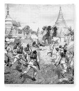 Third Burmese War, 1885 Fleece Blanket