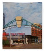 Third Ward Arch Over Public Market Fleece Blanket