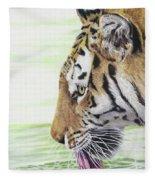 Thirsty Tiger Fleece Blanket