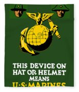 This Device Means Us Marines  Fleece Blanket