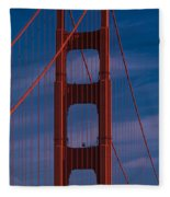 This Is A Close Up Of The Golden Gate Fleece Blanket