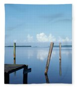 This Is The Morning View Of Pine Island Fleece Blanket