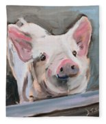 This Little Piggy Fleece Blanket