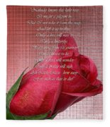 This Little Rose On Digital Linen Fleece Blanket